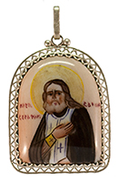 Pendant with Icon of Serafim of Sarov