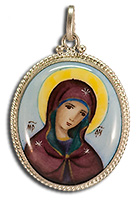 Blessed Virgin Icon Pendant