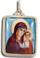 Holy Virgin Icon Pendant