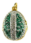 Green Egg Locket with Apple