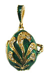 Green Egg Locket with Angel