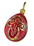 Red Egg Pendant with Cross
